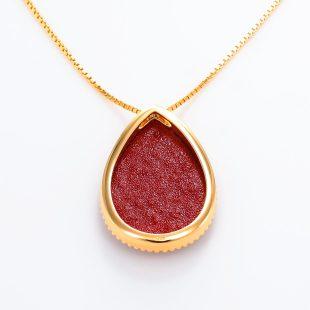 宝石クォーツ・水晶を使った和風のデザインが特徴的な和の彩ネックレス/ペンダントの商品写真です。型番:CR201007-01~02 画像その5