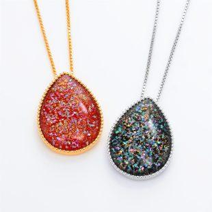 宝石クォーツ・水晶を使った和風のデザインが特徴的な和の彩ネックレス/ペンダントの商品写真です。型番:CR201007-01~02 画像その6