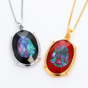 宝石クォーツ・水晶を使った和風のデザインが特徴的な和の彩ネックレス/ペンダントの商品写真です。型番:CR201008-01~02 画像その6