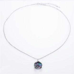 宝石クォーツ・水晶を使った和風のデザインが特徴的な和の彩ネックレス/ペンダントの商品写真です。型番:CR201011-01~02 画像その1