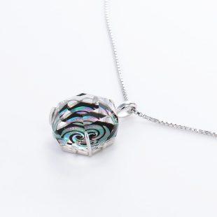 宝石クォーツ・水晶を使った和風のデザインが特徴的な和の彩ネックレス/ペンダントの商品写真です。型番:CR201011-01~02 画像その3