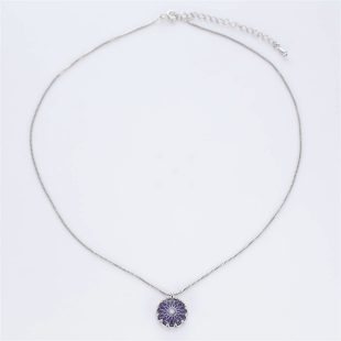 宝石クォーツ・水晶を使った和風のデザインが特徴的な和の彩ネックレス/ペンダントの商品写真です。型番:CR201019-01~05 画像その1