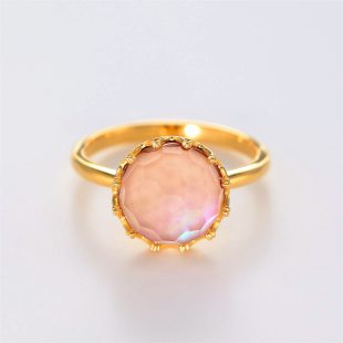 宝石クォーツ・水晶を使った和の彩指輪の商品写真です。型番:CR101001-01~02 画像その1