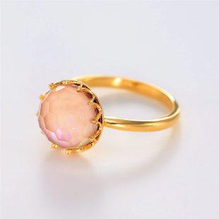 宝石クォーツ・水晶を使った和の彩指輪の商品写真です。型番:CR101001-01~02 画像その2