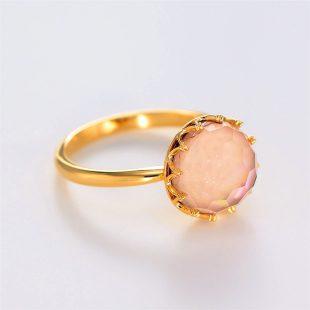 宝石クォーツ・水晶を使った和の彩指輪の商品写真です。型番:CR101001-01~02 画像その3