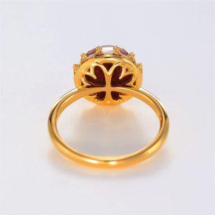 宝石クォーツ・水晶を使った和の彩指輪の商品写真です。型番:CR101001-01~02 画像その4