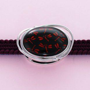 宝石クォーツ・水晶を使った蝶・昆虫と和風のデザインが特徴的な和の彩帯留めの商品写真です。型番:CR601007-01~02 画像その3
