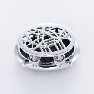 宝石クォーツ・水晶を使った和風のデザインが特徴的な和の彩帯留めの商品写真です。型番:CR601003-01 画像その2
