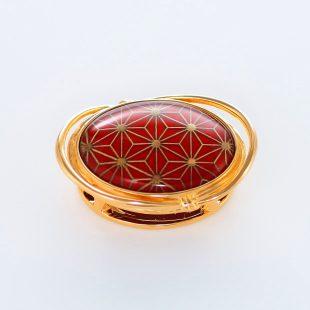 宝石クォーツ・水晶を使った和風のデザインが特徴的な和の彩帯留めの商品写真です。型番:CR601004-01~02 画像その1