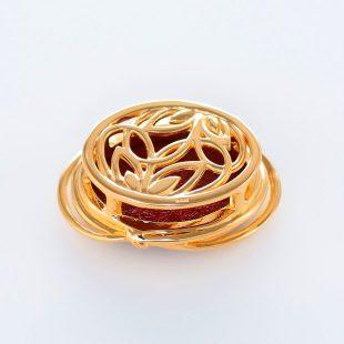 宝石クォーツ・水晶を使った和風のデザインが特徴的な和の彩帯留めの商品写真です。型番:CR601004-01~02 画像その2