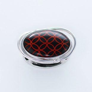 宝石クォーツ・水晶を使った和風のデザインが特徴的な和の彩帯留めの商品写真です。型番:CR601005-01~02 画像その1