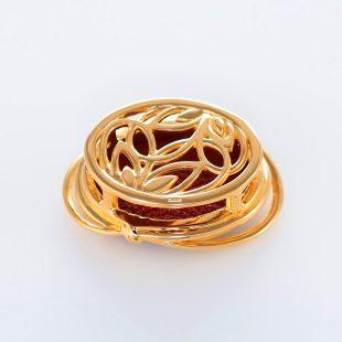 宝石クォーツ・水晶を使った和風のデザインが特徴的な和の彩帯留めの商品写真です。型番:CR601006-01~02 画像その2