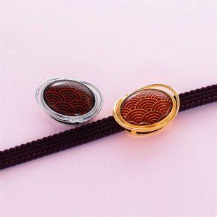 宝石クォーツ・水晶を使った和風のデザインが特徴的な和の彩帯留めの商品写真です。型番:CR601006-01~02 画像その4