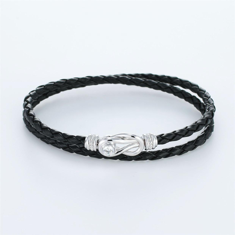宝石キュービックを使ったその他のモチーフのデザインが特徴的な環の色ブレスレットの商品写真です。型番:LE401006-01~03 画像その1