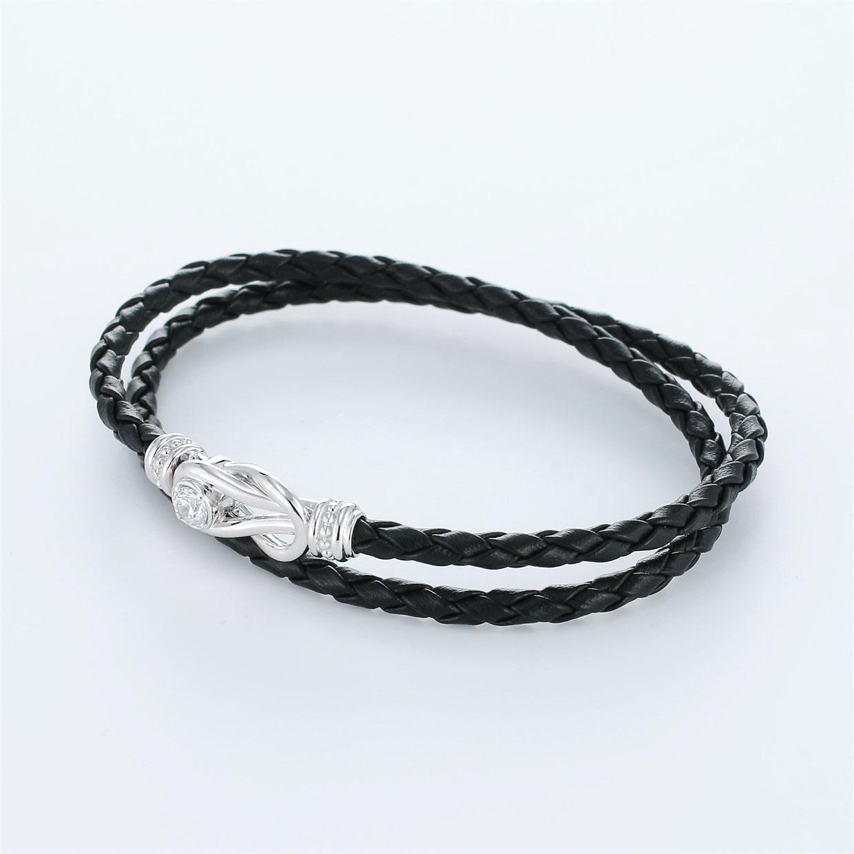 宝石キュービックを使ったその他のモチーフのデザインが特徴的な環の色ブレスレットの商品写真です。型番:LE401006-01~03 画像その2