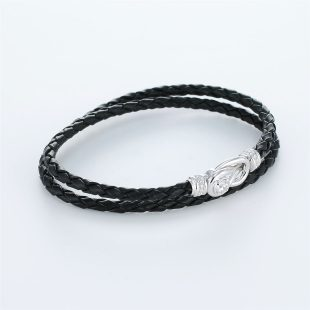 宝石キュービックを使ったその他のモチーフのデザインが特徴的な環の色ブレスレットの商品写真です。型番:LE401006-01~03 画像その3
