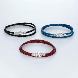 宝石キュービックを使ったその他のモチーフのデザインが特徴的な環の色ブレスレットの商品写真です。型番:LE401006-01~03 画像その5