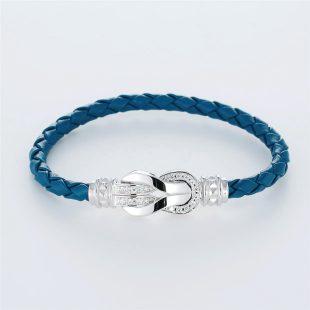 宝石キュービックを使ったその他のモチーフのデザインが特徴的な環の色ブレスレットの商品写真です。型番:LE401010-01~03 画像その1