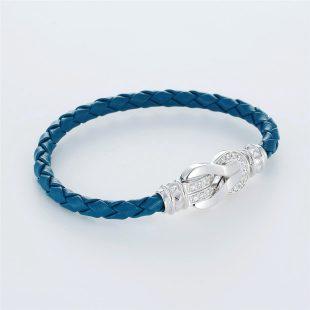宝石キュービックを使ったその他のモチーフのデザインが特徴的な環の色ブレスレットの商品写真です。型番:LE401010-01~03 画像その3