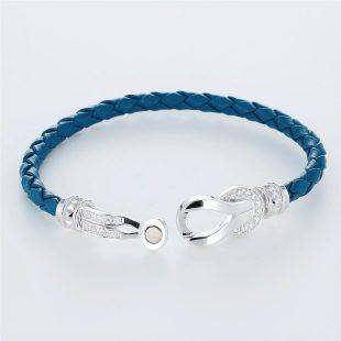 宝石キュービックを使ったその他のモチーフのデザインが特徴的な環の色ブレスレットの商品写真です。型番:LE401010-01~03 画像その4