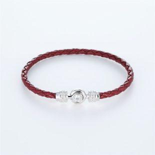 宝石キュービックを使ったその他のモチーフのデザインが特徴的な環の色ブレスレットの商品写真です。型番:LE401011-01~03 画像その1
