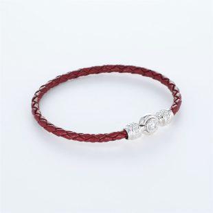 宝石キュービックを使ったその他のモチーフのデザインが特徴的な環の色ブレスレットの商品写真です。型番:LE401011-01~03 画像その3