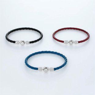 宝石キュービックを使ったその他のモチーフのデザインが特徴的な環の色ブレスレットの商品写真です。型番:LE401011-01~03 画像その5
