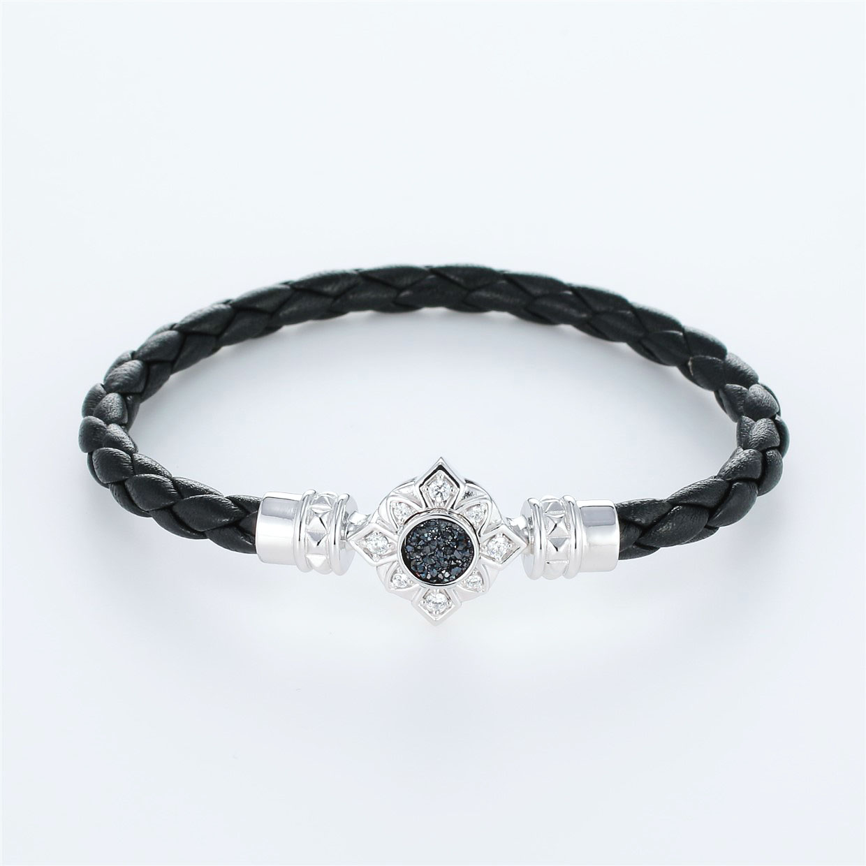 宝石クォーツ・水晶を使ったその他のモチーフのデザインが特徴的な環の色ブレスレットの商品写真です。型番:LE401009-01~03 画像その1