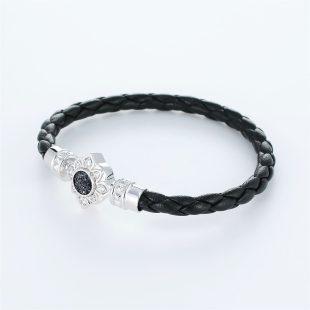 宝石クォーツ・水晶を使ったその他のモチーフのデザインが特徴的な環の色ブレスレットの商品写真です。型番:LE401009-01~03 画像その2