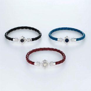 宝石クォーツ・水晶を使ったその他のモチーフのデザインが特徴的な環の色ブレスレットの商品写真です。型番:LE401009-01~03 画像その5