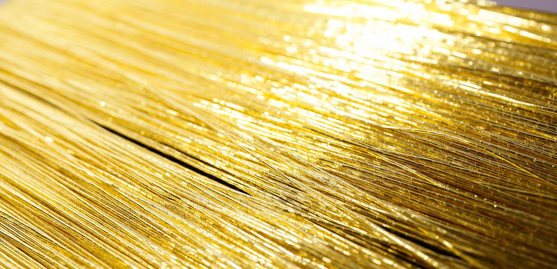 金銀糸アクセサリー 金の糸