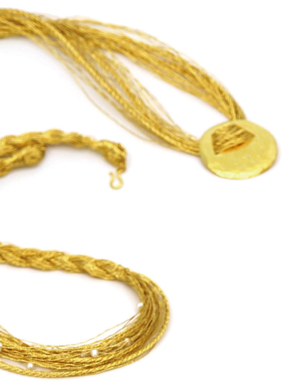 金銀糸アクセサリー ネックレス