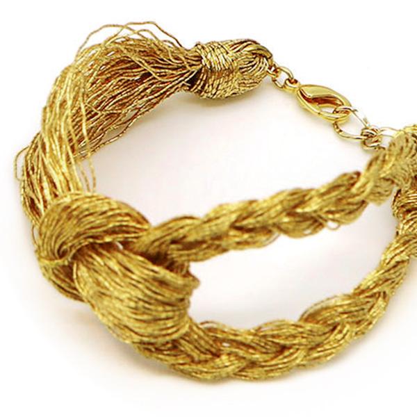 金銀糸アクセサリー ブレスレット