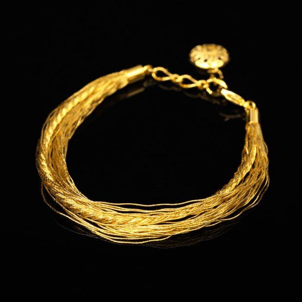和の彩 金銀糸ブレスレットの商品写真です。型番:658-865 画像その2