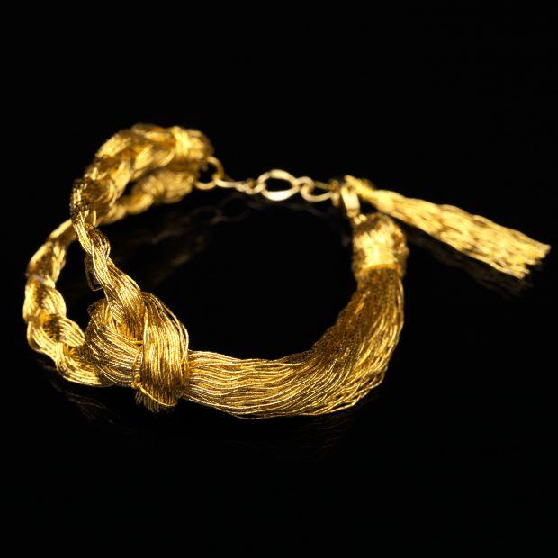 和の彩 金銀糸ブレスレットの商品写真です。型番:658-936 画像その1