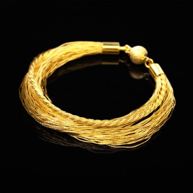 和の彩 金銀糸ブレスレットの商品写真です。型番:658-973 画像その1