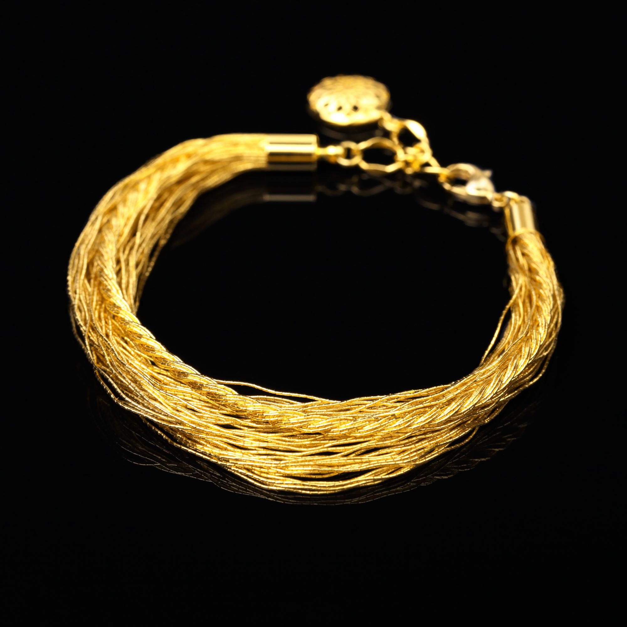 和の彩 金銀糸ブレスレットの商品写真です。型番:658-975 画像その1