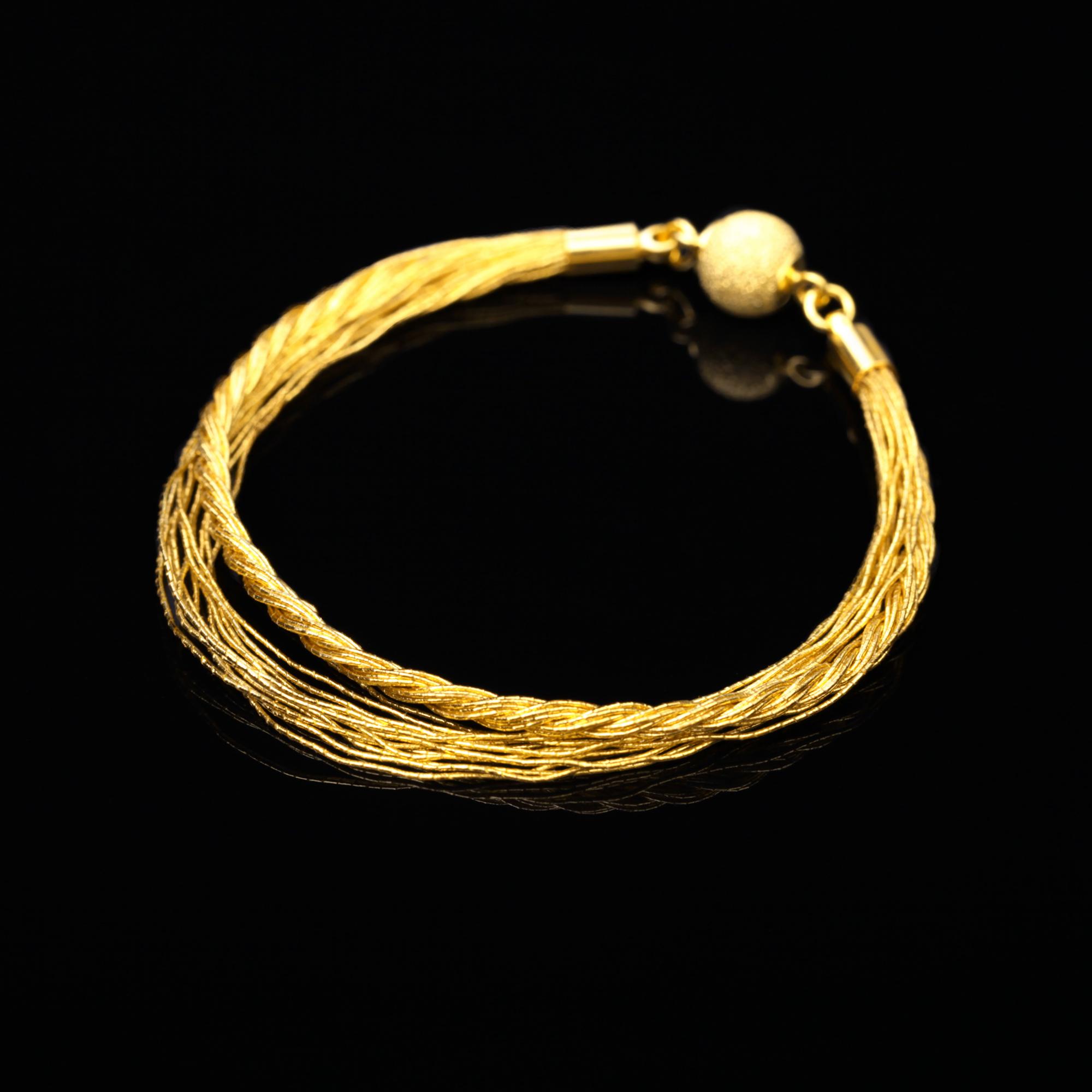和の彩 金銀糸ブレスレットの商品写真です。型番:658-985 画像その1