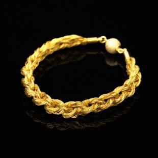 和の彩 金銀糸ブレスレットの商品写真です。型番:659-099 画像その1