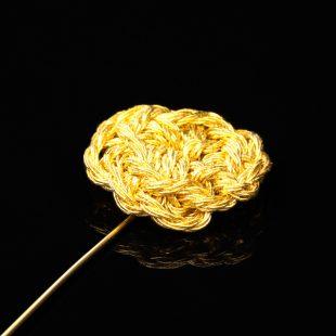 花のデザインが特徴的な和の彩 金銀糸ブローチの商品写真です。型番:659-206 画像その2