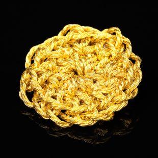 花のデザインが特徴的な和の彩 金銀糸ブローチの商品写真です。型番:659-207 画像その2