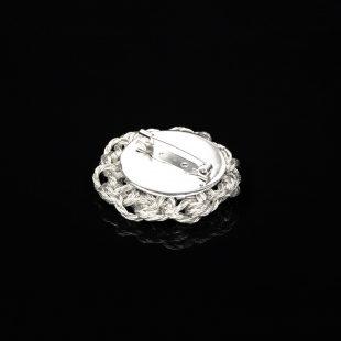 花のデザインが特徴的な和の彩 金銀糸ブローチの商品写真です。型番:659-234 画像その3