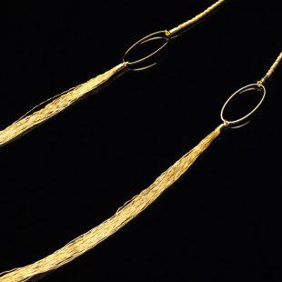 和の彩 金銀糸ネックレス/ペンダントの商品写真です。型番:658-871 画像その2