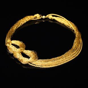 和の彩 金銀糸ネックレス/ペンダントの商品写真です。型番:658-910 画像その1