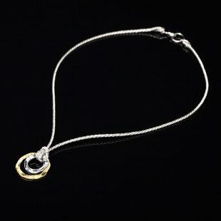 和の彩 金銀糸ネックレス/ペンダントの商品写真です。型番:658-919 画像その1