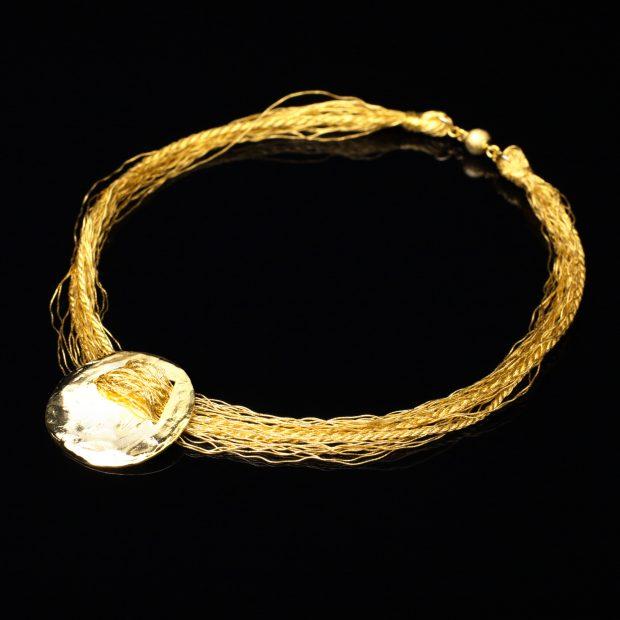 和の彩 金銀糸ネックレス/ペンダントの商品写真です。型番:658-924 画像その1