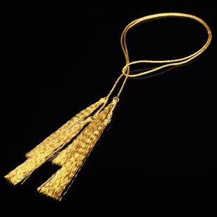 和の彩 金銀糸ネックレス/ペンダントの商品写真です。型番:658-930 画像その1
