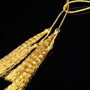和の彩 金銀糸ネックレス/ペンダントの商品写真です。型番:658-930 画像その2