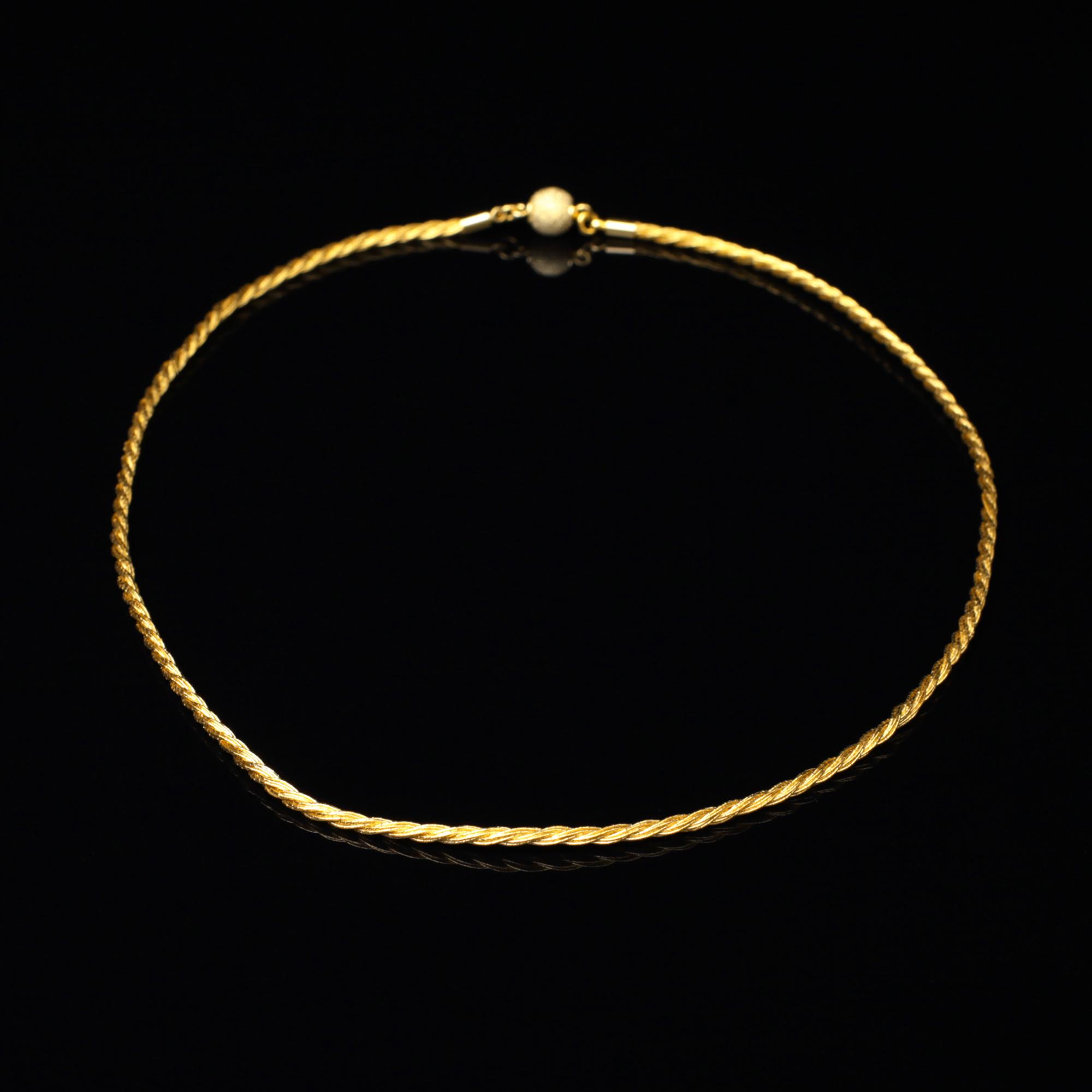 和の彩 金銀糸ネックレス/ペンダントの商品写真です。型番:658-967 画像その1