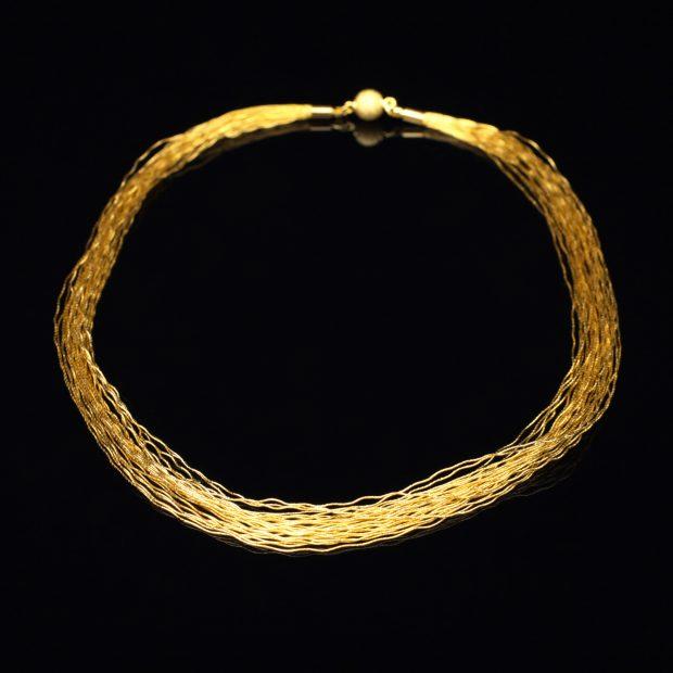 和の彩 金銀糸ネックレス/ペンダントの商品写真です。型番:658-968 画像その1